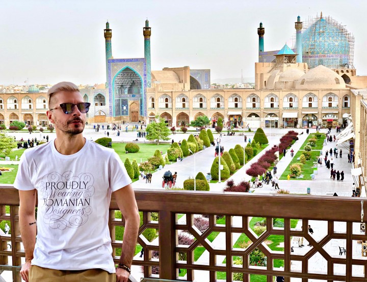 Molecule F Tee in Esfahan, the magic city of Persia