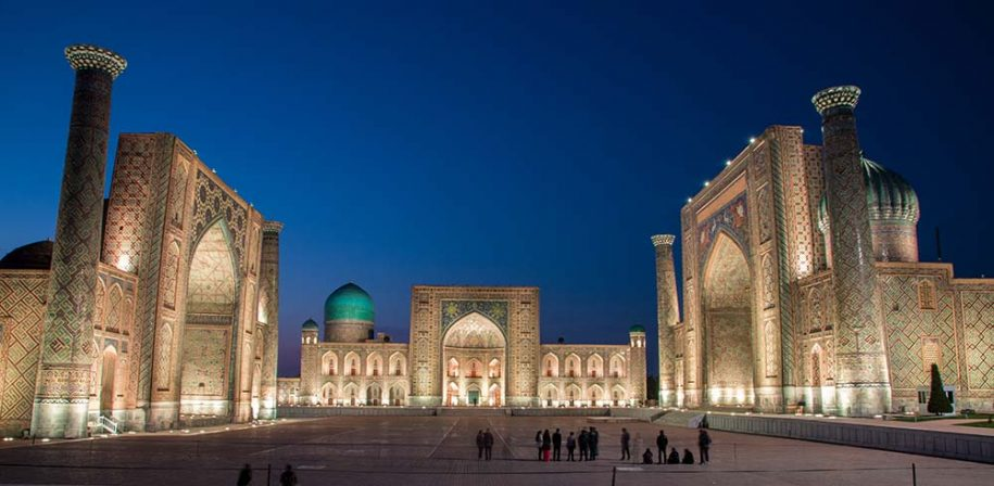 Samarkand by night Holiday