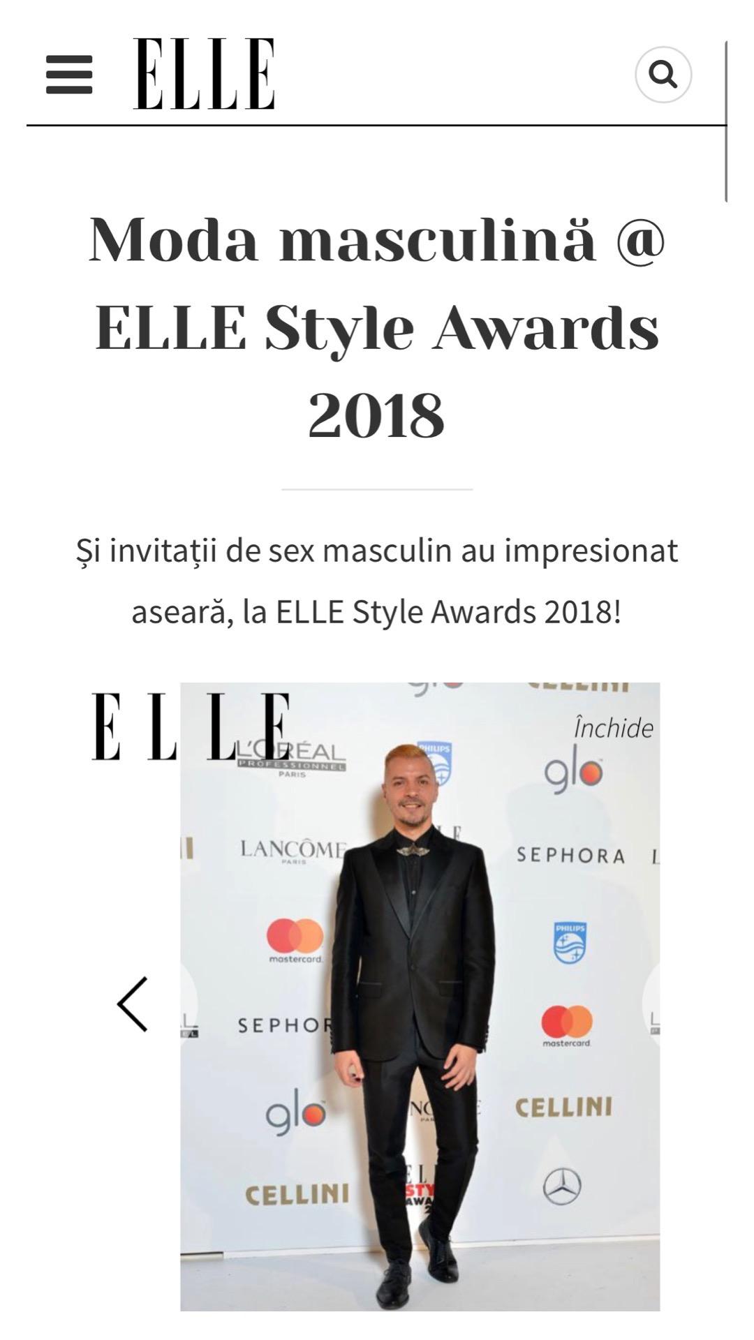 Ovidiu Muresanu Elle StyleAwards 2018